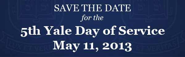 Yale Day of Service 2013 - Save the date